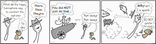 Sarah Mouse and the ballistic anti-pun carp cannon of doom