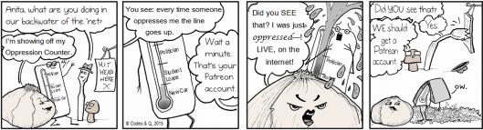 Anita Sarkesian's uses internet fauxtrage to pad patreon account