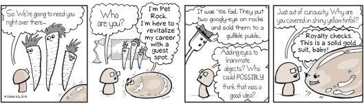 A pet rock visits the webcomic
